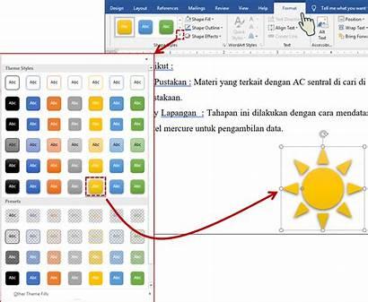 Bentuk Teachmesoft Dari Shape Terapkan Gaya Effects