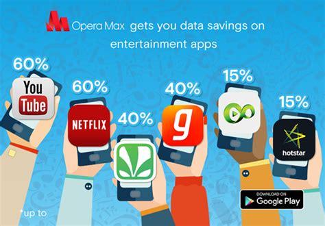 Opera Max Gives 60% Data Savings Across Entertainment Apps