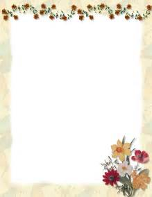 Flower Border Template Microsoft Word