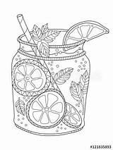 Coloring Adult Lemonade Zentangle Mojito Adobe Coloriage Printable Sheets Colouring Fotolia Mandala Ausmalbilder Nourriture Adultes Vectors Visitar Mandalas Drinks Ideen sketch template