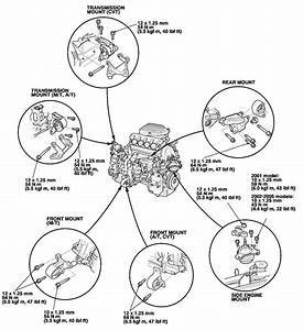 2004 Honda Civic Engine Mounts Diagram