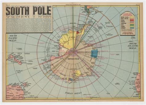 maps   state library  nsw south pole news map