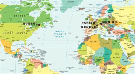Carte Du Monde Vrai Ou Faux by Est Plus Au Nord Que Qu 233 Bec Munich Et 232 Ve Vrai