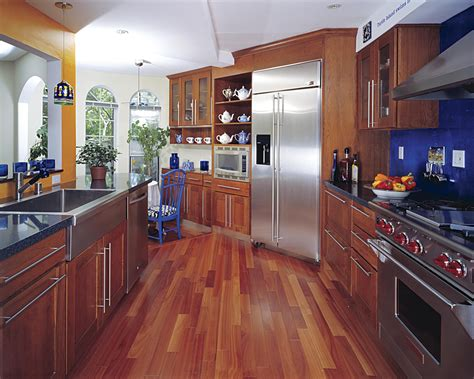 Hardwood Floor In A Kitchen Log Home Floor Plans Houses For Narrow Lots Contemporary Kitchen Faucets Grohe Faucet Custom Design Ideas Eco Homes Free Plan Website House Walkout Basement