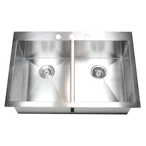 top mount kitchen sinks 33 inch top mount drop in stainless steel bowl 6299