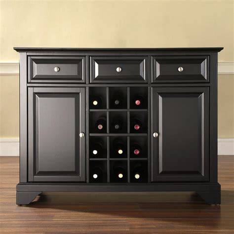 Wine Sideboard Furniture by Crosley Furniture Lafayette Black Sideboard With Wine