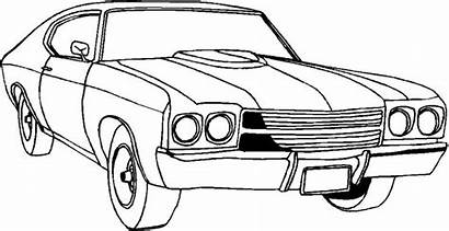 Coloring Pages Cool Muscle Cars