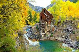 crystal mill colorado united states forest tree autumn ...