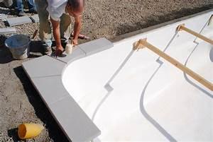 pose des margelles sur mesure en pierre reconstituee sur With pose de margelle de piscine