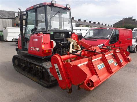 yanmar ct  crawler tractor cw rotovator  hours vat