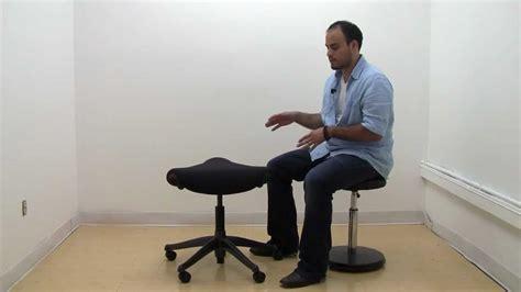 humanscale freedom saddle stool youtube