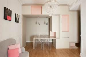 table de repas integree contemporain salle a manger With exceptional idee deco jardin contemporain 5 dilemme deco saloncuisine ouverte