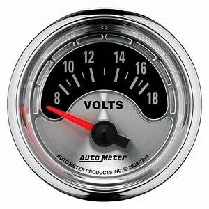 Auto Meter® 1294 - American Muscle™ Voltmeter In-Dash Gauge