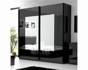 Armoire Noir Et Blanc : armoire chambre noir patcha ~ Preciouscoupons.com Idées de Décoration