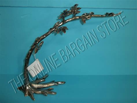 Pottery Barn Figurative Silver Tree Branch Jewelry Stand