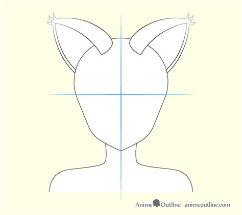 draw anime cat girl ears step  step animeoutline