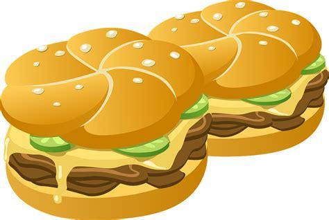 Hamburgers Burgers Buns · Free Vector Graphic On Pixabay