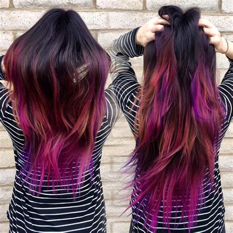 Black Hair Dye Types by How To Dip Dye Your Hair At Home With Three Different