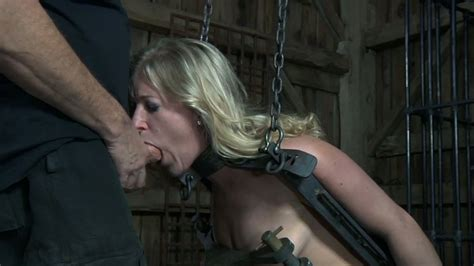 Restrained Blond Bitch Dia Zerva Had Hard Sex Session With