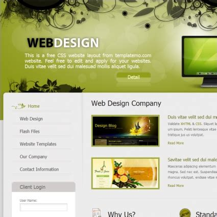 web design  website templates  css html js format