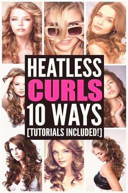 Curls Heatless Waves Tutorial Overnight Tight Heat