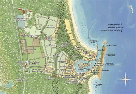 abaco estate services map  schooner bay village abaco