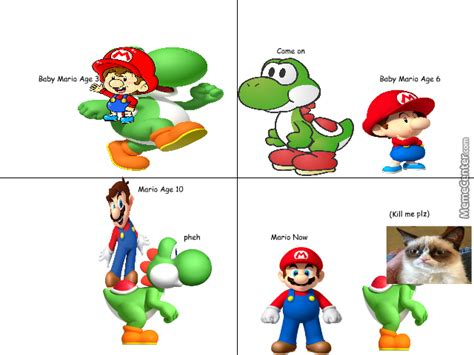 Growing Up Mario W/ Yoshi By Werdmems