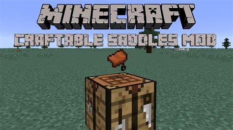 craftable saddles mod minecraft