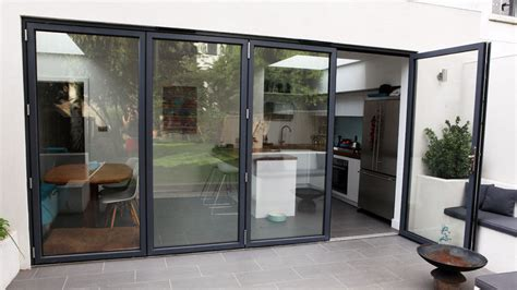 bi folding sliding patio door 4 panel aluminium door 13ft