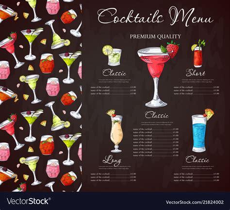 drink menu design financial letter drinks pinterest
