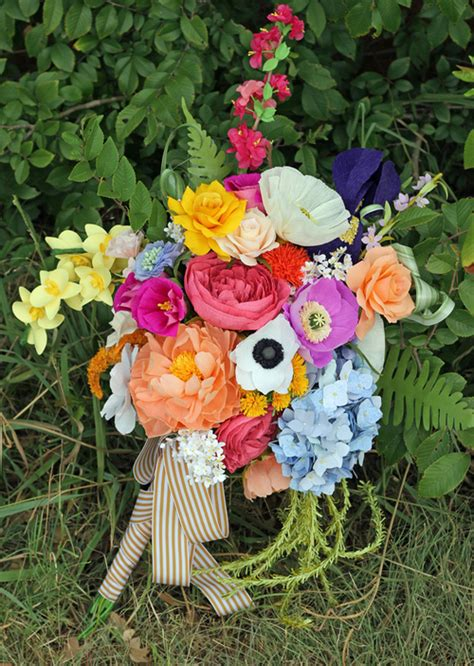 5005 how to make wedding bouquets this paper flower bouquet it s and beautiful 5005