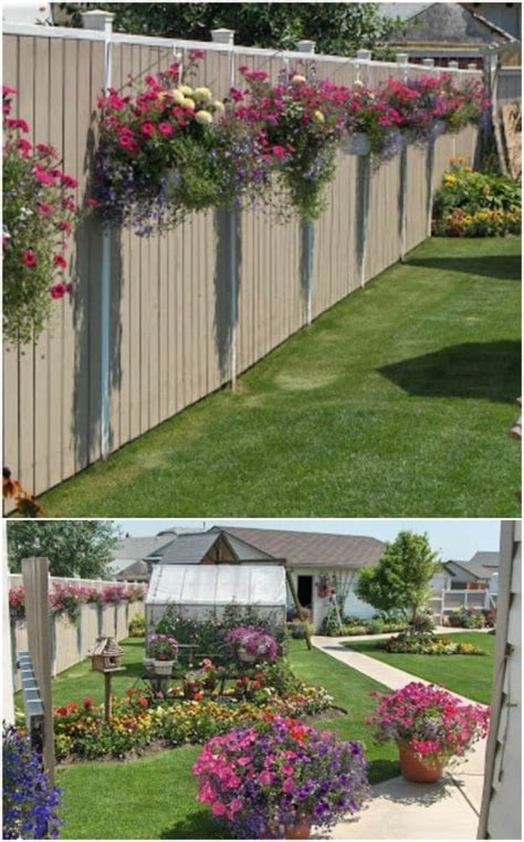 diy backyard decorating ideas diy outdoor projects 18 lovely fence decorating ideas