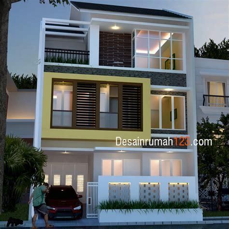 desain rumah     tiga lantai  roof garden