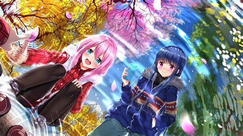 yuru camp hd wallpaper background image  id