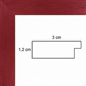 Cadre Photo Sur Mesure : encadrement bois rouge avec verre et dos cadre pas cher ~ Dailycaller-alerts.com Idées de Décoration