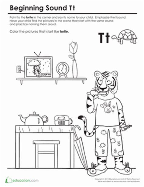 beginning sounds coloring sounds like turtle preschool