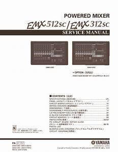Yamaha Yamaha Emx512sc Emx312sc Pdf Diagramas De Audio