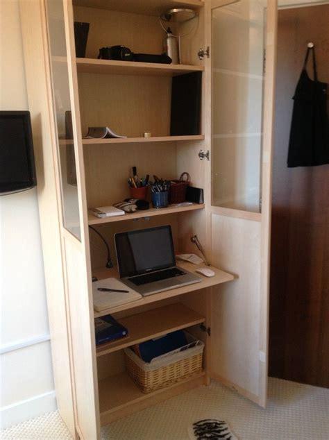 Ikea Hacks Billy by Ikea Hack Billy Bureau Workspace In A Billy Bookcase