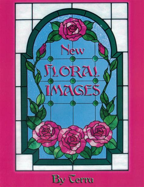 Floral Stained Glass Pattern Book oop new floral images stained glass pattern book by