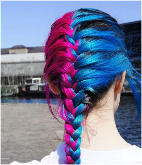 The Gallery For Hot Pink And Blue Hair
