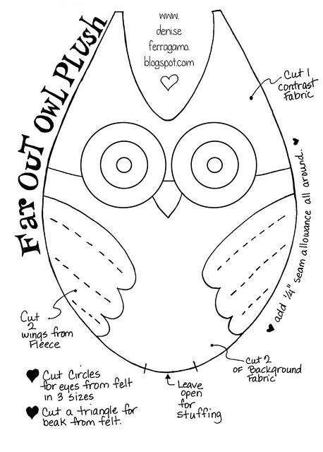 pattern template  owl plush flickr photo sharing