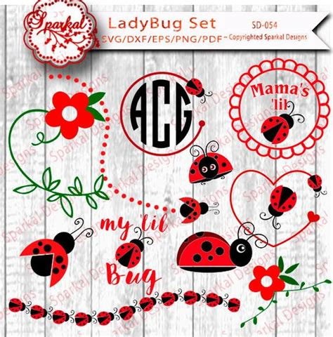 bundle ladybug svg cut file lady bug cut design cutting