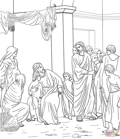 Kleurplaat Bethesda by Let The Children Come Unto Jesus Coloring Page