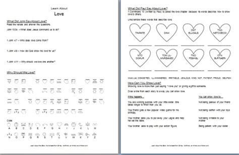 learn about bible worksheets bible study for