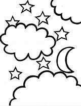 Star Coloring Shooting Pages Sheet Clipart sketch template