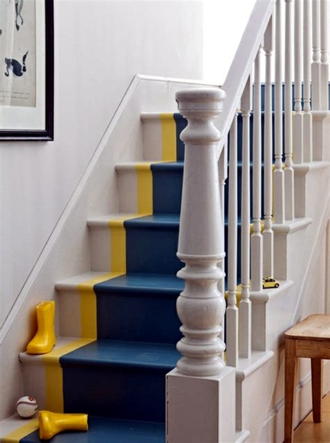 staircase decorating ideas  paint leftover