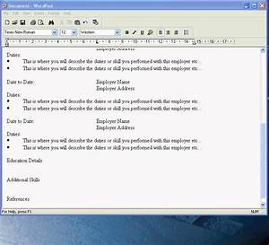 How to write a resume on wordpad How to use wordpad to
