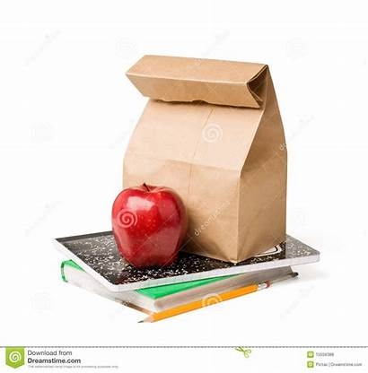 Lunch Royalty Background Textbooks Isolated Sitting Apple