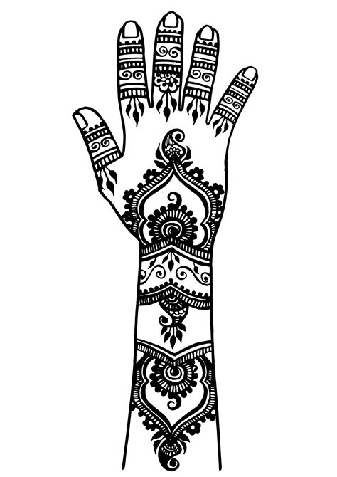 Arm and hand tattoo 2 - Tattoos Adult Coloring Pages