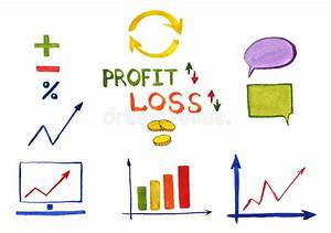 Business Profit Loss Graphs Stock Illustration